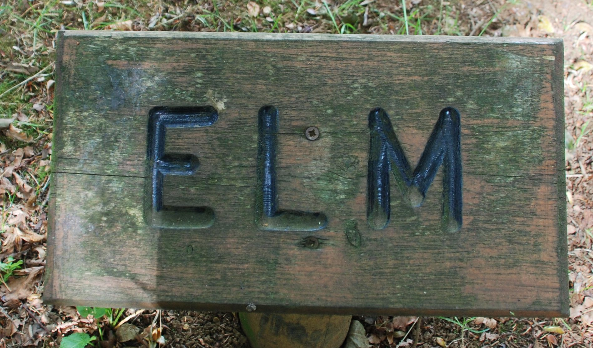 Elm campsite sign